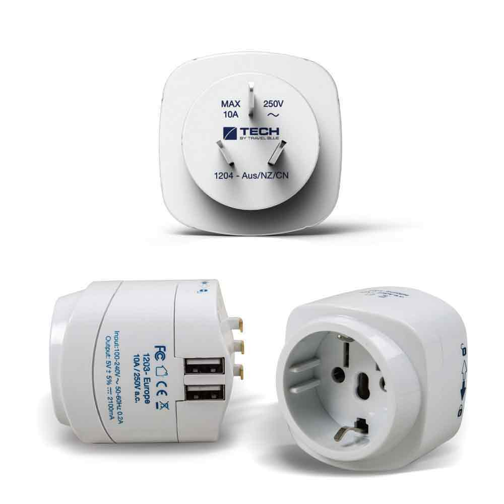 Australia Power Socket Europe To China Australia Travel Adaptor Dual Usb Charger
