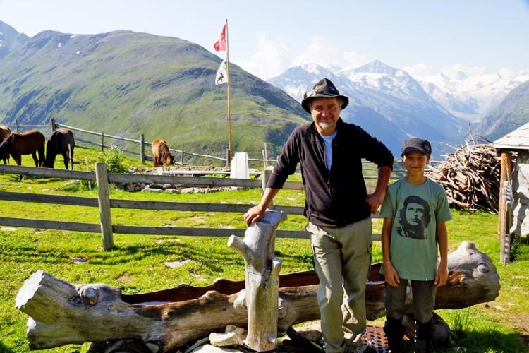 Der Bergbauer mit  Filius