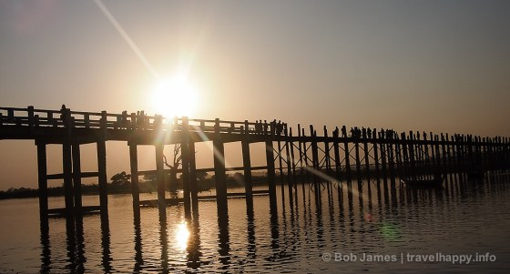 Amarapura's U Bein Bridge at Sunset