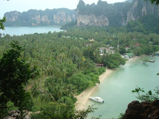 Viewpoint showing Railay Bay East and West