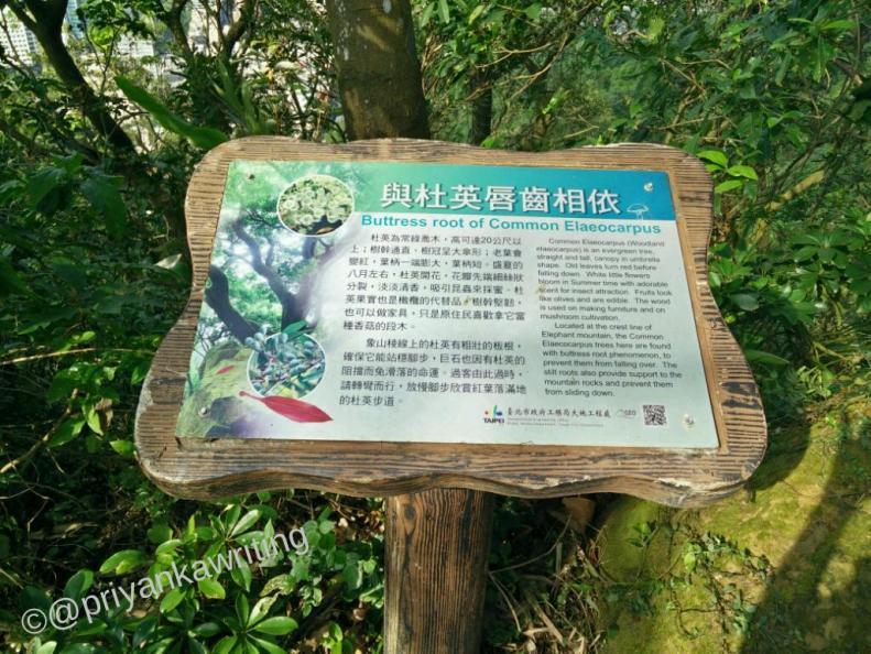 Elephant hiking trail, nature signs