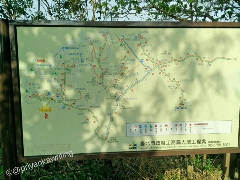 Elephant hiking trail signposts