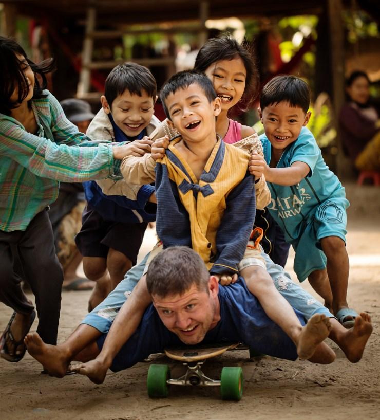 Entertaining kids, Siem Reap Cambodia.