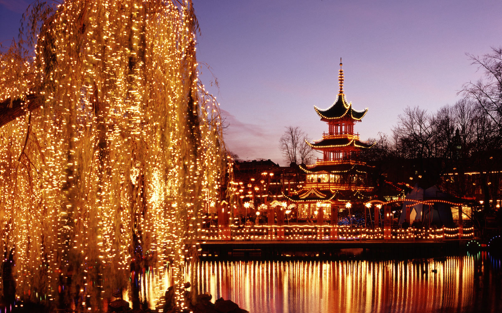 Tivoli Strand Lighting Copenhagen Denmark The Best Christmas Markets In Europe