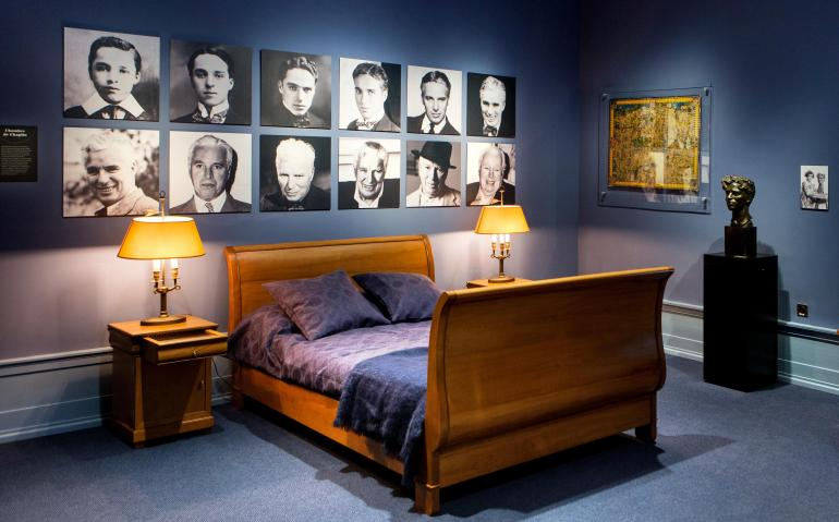 Charlie Chaplin's bedroom now a part of the museum tour