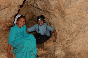 Children in a cave