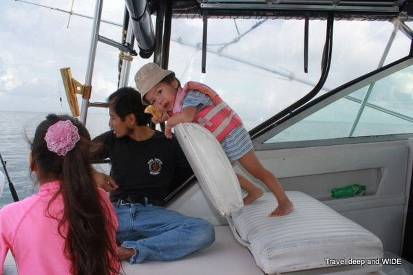 two year-old on a deep sea fishing experience