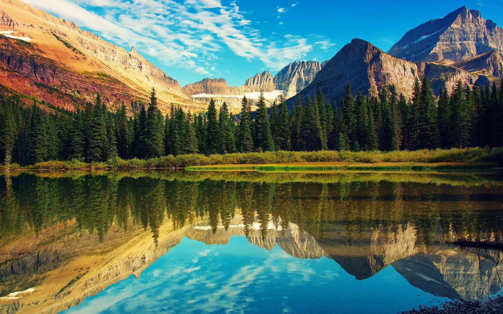 Hd Autumn Desktop Wallpaper Glacier National Park Montana Canada Traveldigg Com