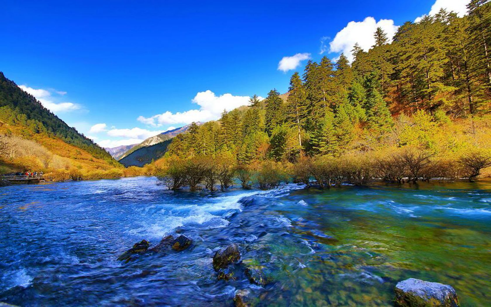Moon Wallpaper Hd Jiuzhaigou Valley A Spectacular Dish That Awesome To
