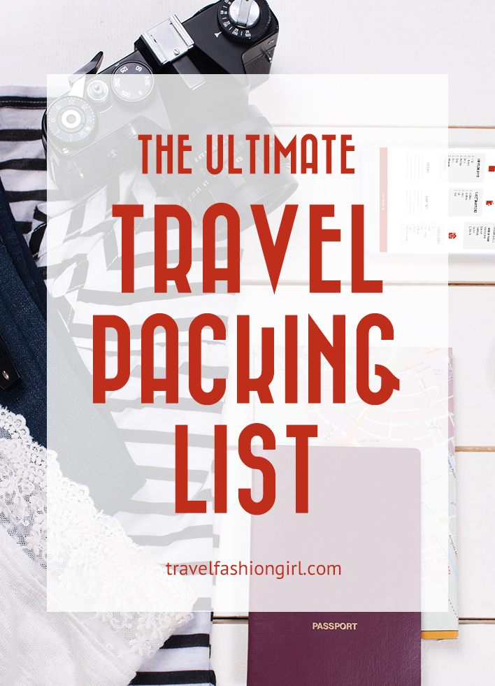 Packing List (and Printable Travel Checklist) - packing lists