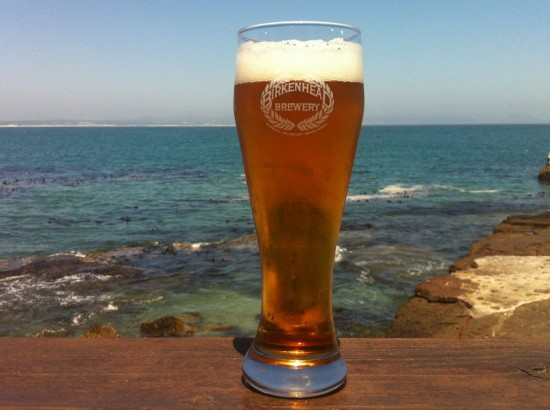 Birkenhead Beer at Bientang's Cave while whale watching, Hermanus