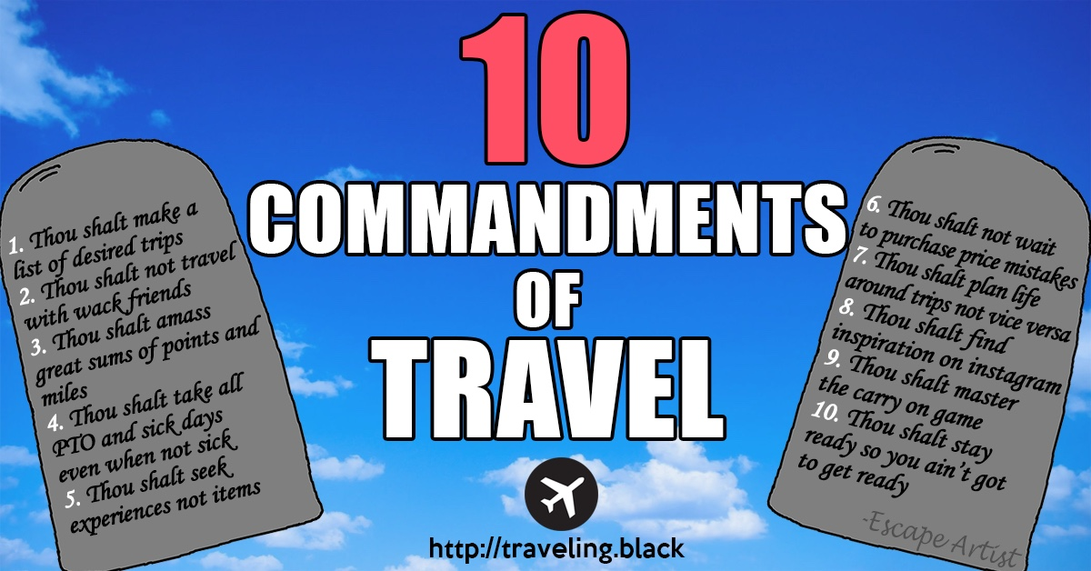 10 commandments of travel