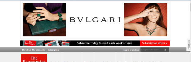 Bulgari Ad of Carla Bruni Sarkozy