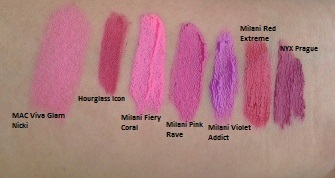 milani lip intense swatches4