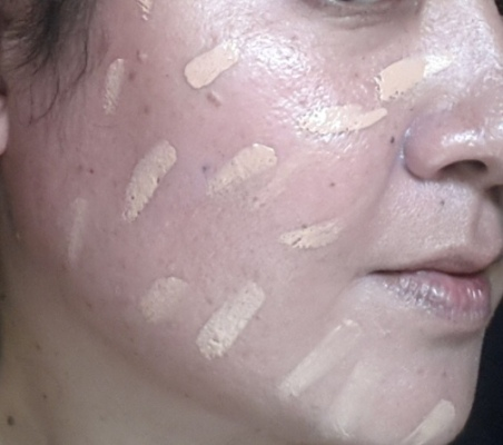 Illamasqua Skin Base Foundation Shade 9 splotched all over moisturized bare face