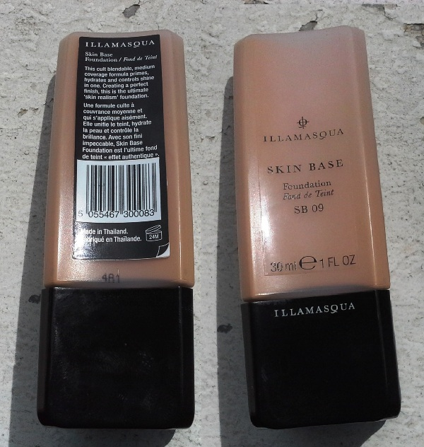 illamasqua skin base foundation shade 09 b