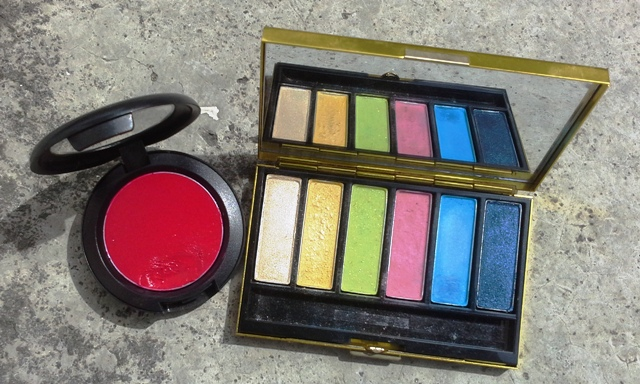 MAC Cream Color Base 'Movie Star Red' and MAC Manish Arora eyeshadow palette