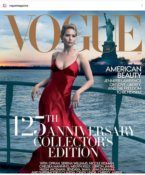 Jennifer Lawrence cover Vogue September Issue 2017