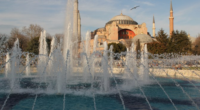 Hagia Sophia with Water Fountain; Istanbul, Turkey; 2013