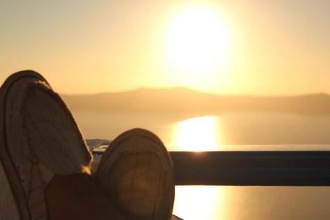 Relaxation; Santorini Island, Greece; 2013