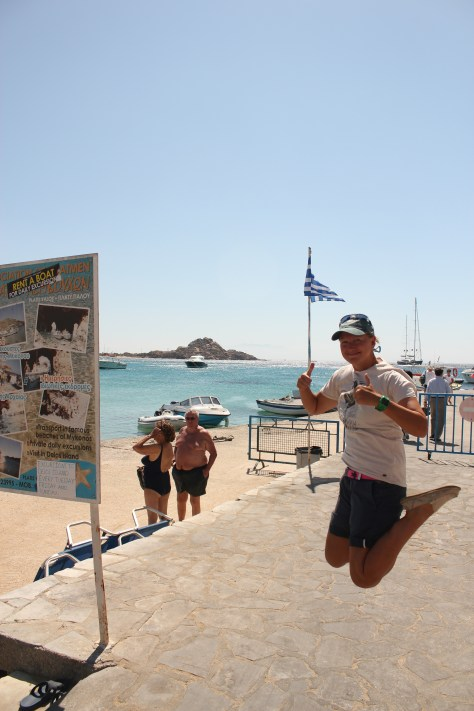Signature Jumpin' Photograph; Mykonos Island, Greece; 2013