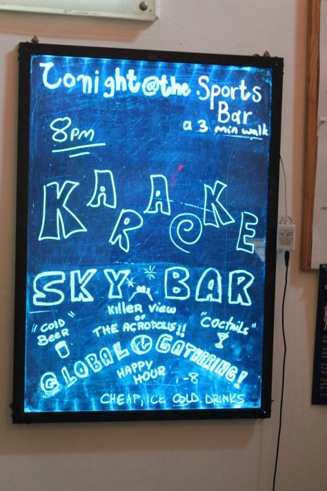 Sky Bar; Athens, Greece; 2013