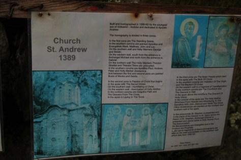 History of Church St. Andrew; Matka, Republic of Macedonia; 2013