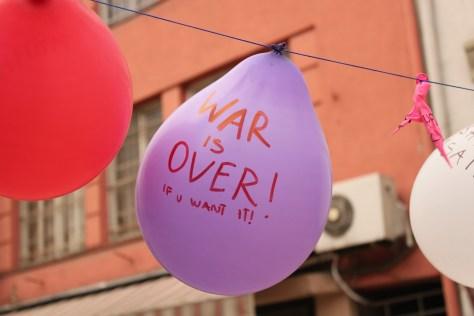 War is Over; Skopje, Republic of Macedonia; 2013