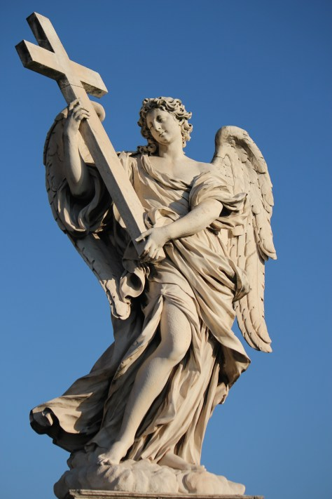 Angel with Cross Statue; Rome, Italy; 2011
