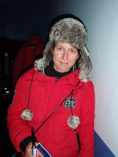 Polish Best Mate, Beata Bundled Up for Ice Bar; Amsterdam, Netherlands; 2010