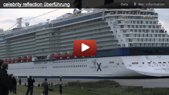 VIDEO: Celebrity Reflection off on maiden voyage
