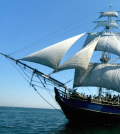 The HMS Bounty, which sank Monday off North Carolina in the hurricane Sandy.