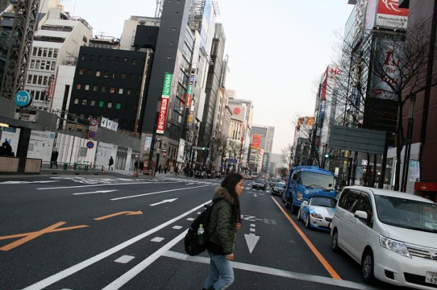 The avenues of the Ginza shopping & fashion district.