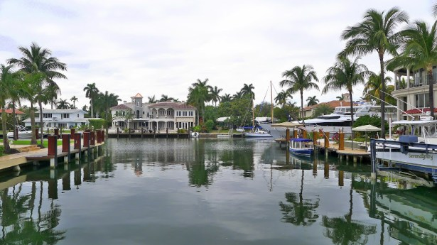 Residential neighborhood in Fort Lauderdale, Florida.
