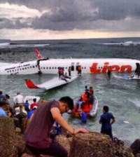 The Lion Air plane crash at Bali.