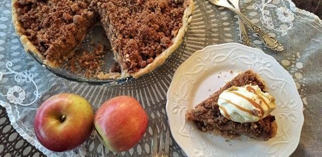 Apple Crumble Pie with Salted Caramel Recipe