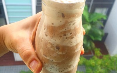 No added sugar probiotic protein kefir coffee frappe