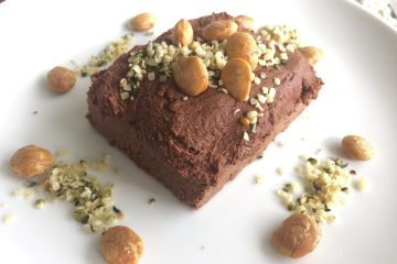 No added sugar mocha protein log with chocolate probiotic icing