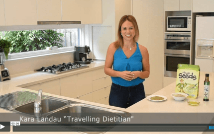 kara landau travelling dietitian nutrition video