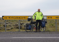 Dick Edie spent 5 weeks cycling around Iceland.