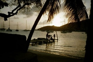 Fishing on the Dingy Dock, Admiralty Bay, Bequia