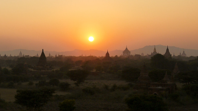 Sunset in Bagan, Burma (Myanmar)