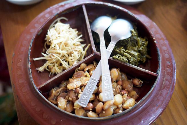 Lapheto Burmese tea leaf salad