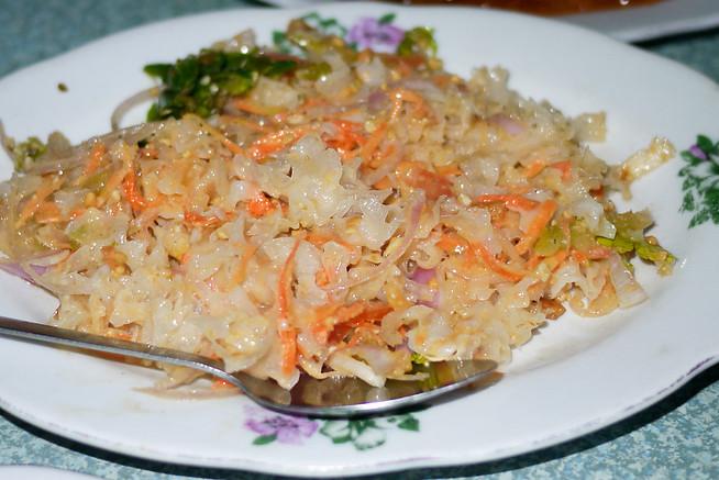 Seaweed salad from Burma