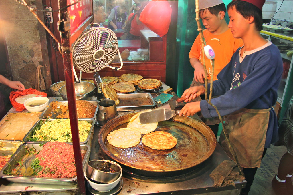 Muslim Quarter Food Stall - Xi'an, China - Photo