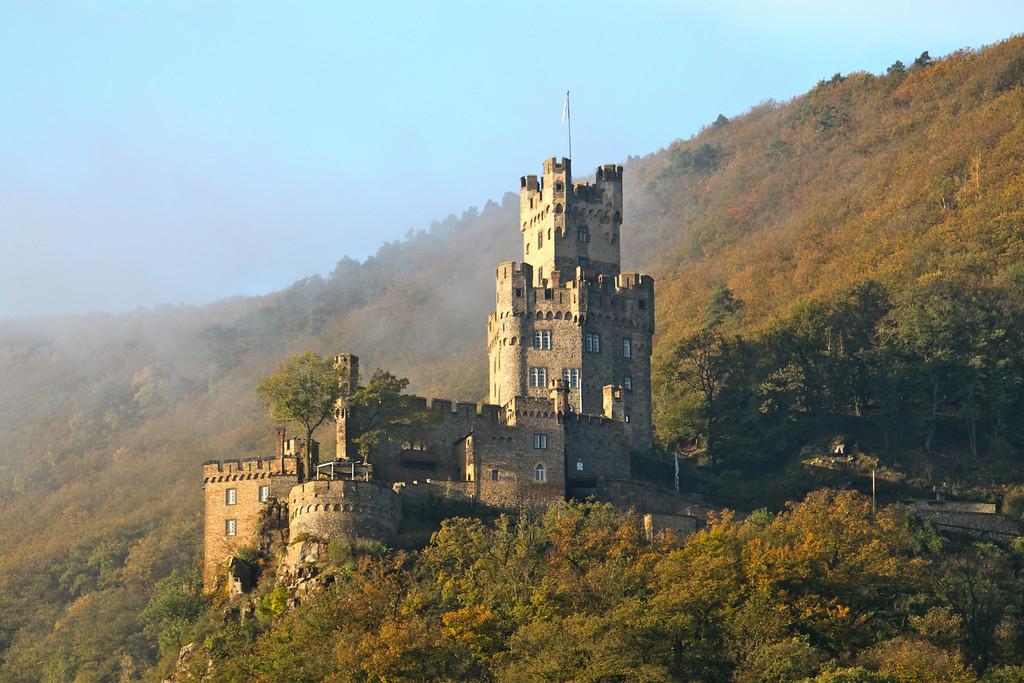 Castle in the Mist - Rhine River Gorge, Germany