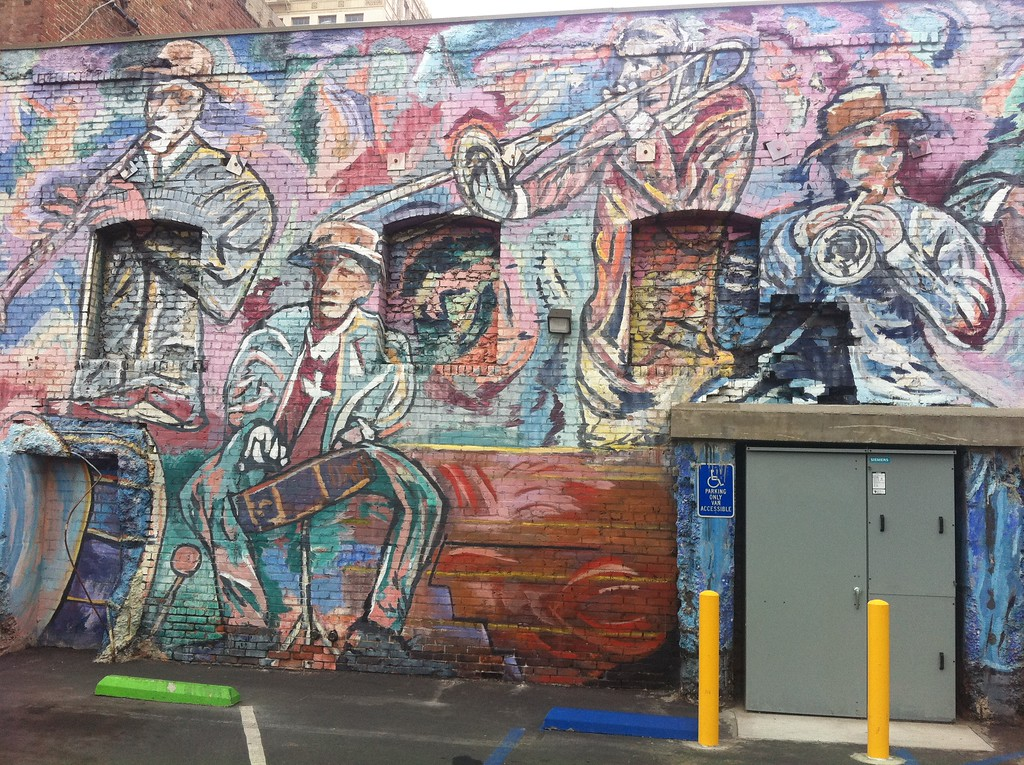 Jazz Band Wall Mural - Long Beach, California - Photo