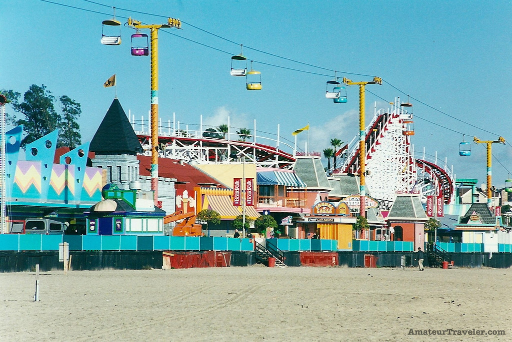 Beach and Boardwalk - Santa Cruz, California - Photo
