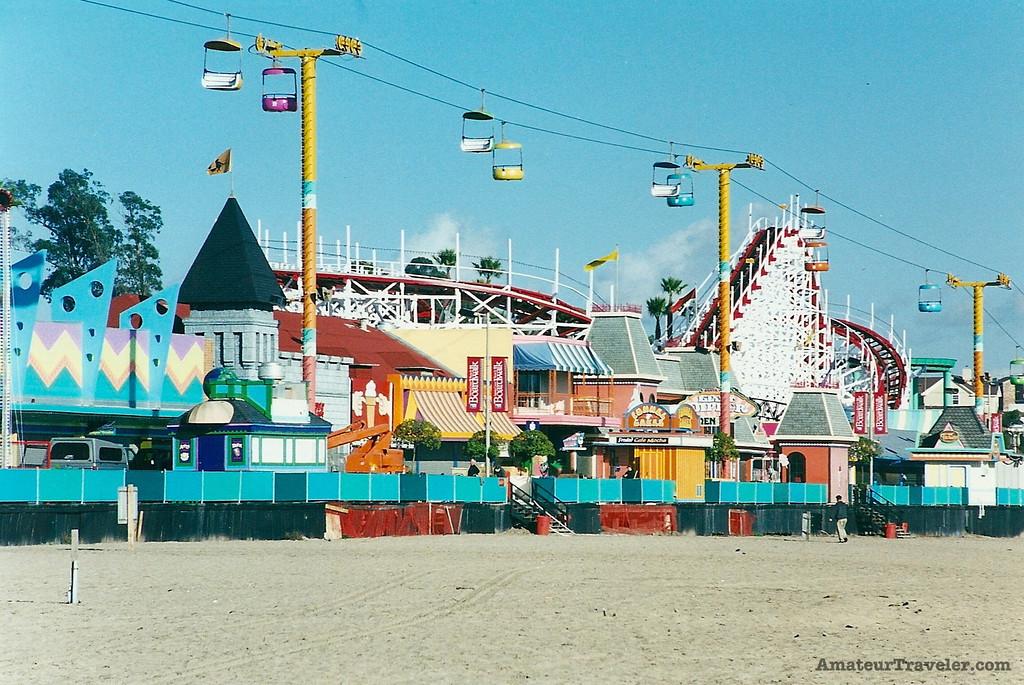Beach and Boardwalk - Santa Cruz, California - Photo