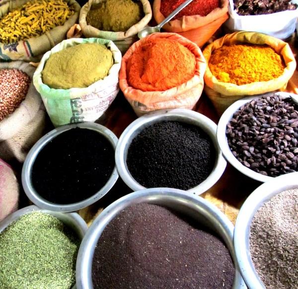 Spice market in Varanasi